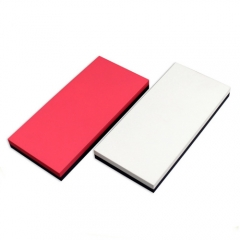 Ultra slim contrast color design li-polymer power bank 15000mah with dual usb