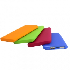 Candy color ultra thin power bank 5000mah