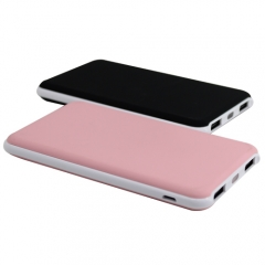 Fashionable and ultra thin design rubber oil paint ABS power bank