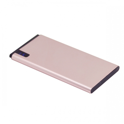 Ultra thin power bank with LCD power display