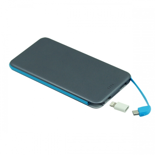 Hot new ultra thin power bank with built-in cable
